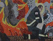 Volunteer Fireman Mural