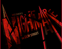 A Nightmare On Elm Street Movie Poster Design