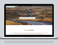 Travello - Homepage for travelling website.