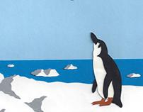 Penguin and Albatross Paper Illustration