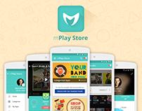 Material Design-App UI/UX Design-MPlay Store App