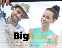 BigFaster.com branding and web desing