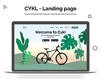 CYKL Cycle renting app website landing page