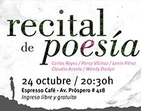 Anuncio | Recital de poesía