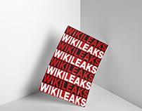 """Wikileaks/Terror"" Typographic Poster Desing"