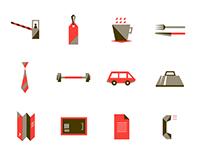Diseño de íconos para Hotel Time