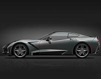 Corvette Stingray // Vector Representation