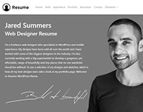 Resume WordPress Theme - About Me Section