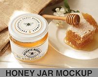 Honey Jar Logo Mockup