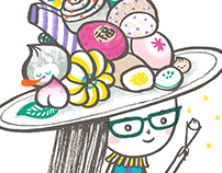 Taiwan Food and Fashion Illustration