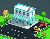 Isometric Highway Restaurant