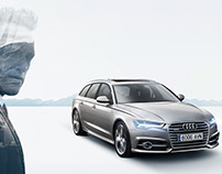 "Audi A6 Gráfica ""Tu mundo gana terreno"""