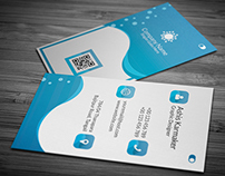 Aqua Business Card