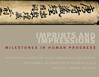 Imprints and Impressions exhibit panel, ads & handlist