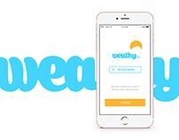 weathy.io iOS App UI/UX Design - Branding