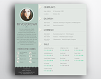 Free resume template (mint design)