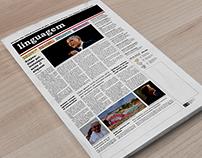 Primeira página jornal
