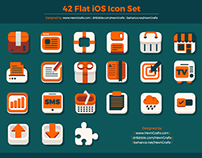FREEBIES - 42 Flat iOS Icon Set