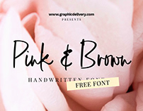 Pink and Brown Free Font