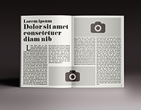 100 Pages Magazine Template A4+Letter