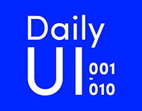 Daily UI Challenge New Version (001-010)