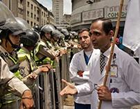 Marcha de médicos en Caracas 17 de mayo