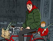 bisiklet ve pırasa