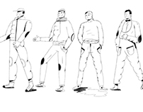 Selected sketches for different projects