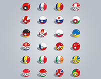 Euro 2016 Poke Ball verison