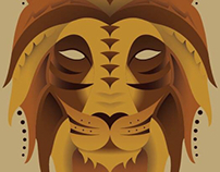 Geometric African Animals