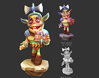 3d paint over character design for game