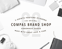 Compas Clothing. Branding and Web Design.
