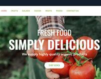 Organic Food Responsive eCommerce WordPress Theme