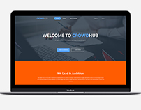 CrowdHub landing page