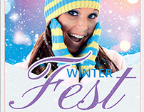 Winter Festival Flyer Template V3