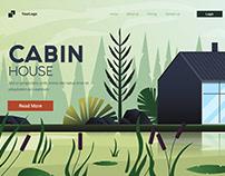 Flat Modern design Illustration of Cabin House