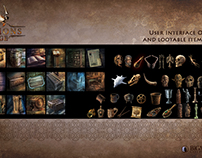 User Interface artwork for games