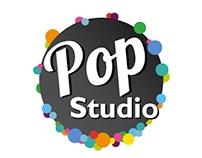 "logo and presentation slides ""Pop Studio"""
