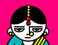 Character Design for Indian Social Issues Infographics