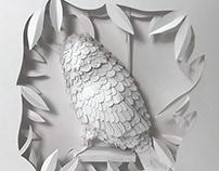 Bird in a Box: Paper Sculpture