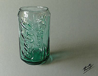 Drawing Coca-Cola glass