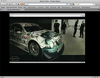 Mercedes-Benz. DTM website 2000.