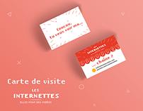 Les Internettes, cartes de visites