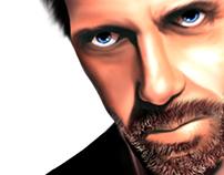 Dr. House (Hugh Laurie) - Pintura Digital