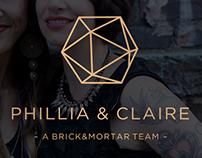 Phillia & Claire Logo and Website Design
