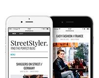 StreetStyler: Branding & Blog Design
