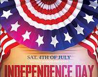 Independence/Memorial Day Flyer Template
