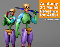 Anatomy 3D Model Reference For Artist
