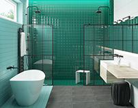 Turquoise bathroom #ceramicaVOGUE
