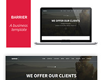 Barrer- A free business template